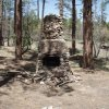 Old homestead chimney on the Miller creek trail