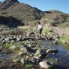 Crossing Cave creek on the Metate - Spur cross loop hike