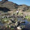 Crossing Cave creek on the Metate - Spur cross loop hike