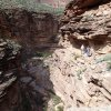 In the narrows of Hermit canyon