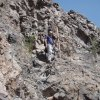 Scrambling up to Picacho peak