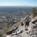 Hiker on Piestewa peak trail