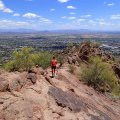 Ridgeline of Camelback mountain along the Cholla trail