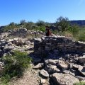 Checking out the native american site at Indian mesa