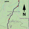 Babe Haught trail: map