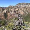Views of the west wall of Oak Creek canyon