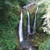 Triple falls at Oneonta gorge