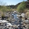 Crossing the creek on the Bear canyon trail