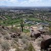 Paradise valley as seen from the Cholla trail: Camelback mountain