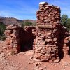 Ruins of Pete Berry's cabin at Horseshoe Mesa