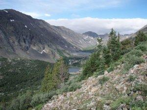 Hiking up to Quandary peak