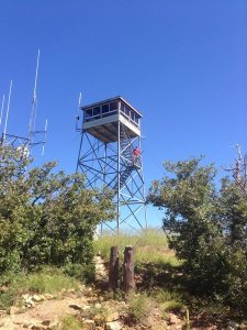 Fire lookout atop Mount Union